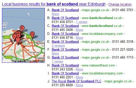 A curious Google local result